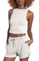 Michelle By Comune Women's Addison Crop Tank Milky Green
