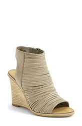 Women's Hinge 'Turner' Open Toe Wedge Bootie 3 1 2' Heel