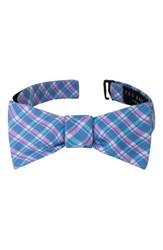 Ted Baker Men's London Plaid Cotton And Silk Bow Tie