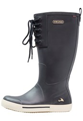 Viking Lykke Wellies Navy Dark Blue