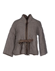 Kangra Cashmere Coats And Jackets Jackets Women Grey