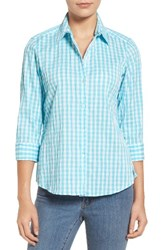 Foxcroft Women's Crinkled Gingham Shirt