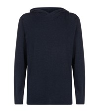 Homebody Snuggle Hooded Lounge Top Navy