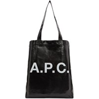 A.P.C. Black Coated Canvas Lou Tote
