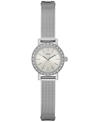 Guess Women's Stainless Steel Mesh Bracelet Watch 22Mm U0954l1 Silver