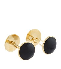 Tom Ford Onyx And Gold Disc Cufflinks