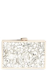 Natasha Couture Crystal Embellished Box Clutch