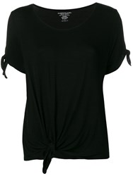 Majestic Filatures Knot Detail T Shirt Black