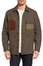 Tommy Bahama Men's Harris Tweed Wool Shirt Jacket