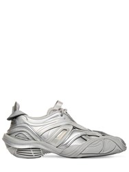 Balenciaga 30Mm Tyrex Faux Leather And Rubber Sneaker Silver