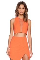 Bless'ed Are The Meek X Revolve Genesis Crop Top Orange