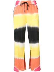Off White Beige Striped Trousers Women Cotton Xs Off White