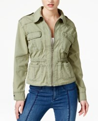 Guess Claire Long Sleeve Cargo Jacket Helmut Green Multi