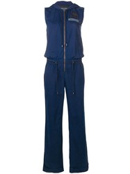 Mr And Mrs Italy Hooded Jumpsuit Blue