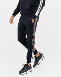 Good For Nothing Joggers With Side Stripe In Black