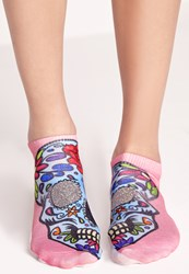 Missguided Sugar Skull Socks Pink