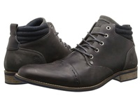 Type Z Renton Grey Leather Men's Lace Up Boots Gray