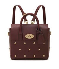 Mulberry Cara Mini Rivet Backpack Oxblood