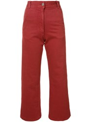 Rachel Comey Cropped Trousers Red