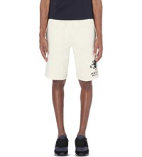 Ralph Lauren Dragon Emblem Print Cotton Shorts Black