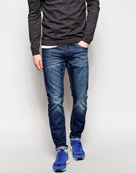 Cheap Monday Five Regular Fit Jeans In Distressed Wash Blue