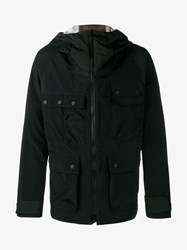 White Mountaineering Gore Tex Hooded Parka Jacket Black White Flannel Off White