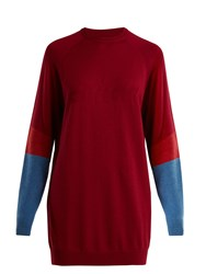 Lndr Propel Logo Knit Wool Blend Sweater Burgundy