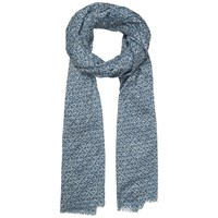Seasalt Exclusive Anchor Check Cotton Scarf Indigo