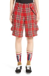 Undercover Women's Plaid Tweed Shorts