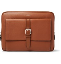 Smythson Burlington Grained Leather Portfolio Tan
