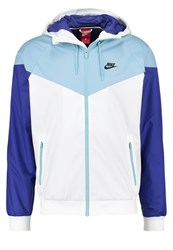 Nike Sportswear Windrunner Tracksuit Top White Mica Blue Deep Night Black