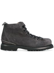 Buttero Chamois Leather Hiking Boots Grey