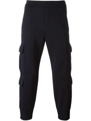 Neil Barrett Cargo Track Pants Blue
