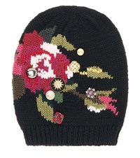 Dolce And Gabbana Embellished Wool Hat Multicoloured