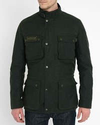 Barbour Bottle Green Blackwell Waxed Parka With Belt