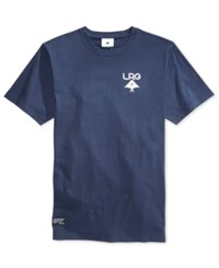 Lrg Men's Logo Plus Graphic Print T Shirt Navy