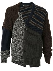 Kolor Knitted Wool Cardigan Multicolour