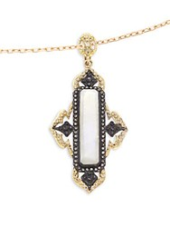 Armenta Old World Rainbow Moonstone Diamond 18K Yellow Gold And Sterling Silver Pendant