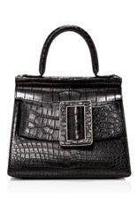 Boyy Crocodile Karl Top Handle Bag 24Cm Black