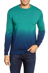Men's Bugatchi Ombre Crewneck Sweater Emerald