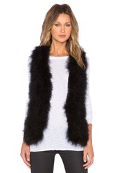 Generation Love Marisa Marabou Feather Vest Black