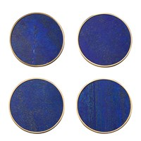 Aerin Lucas Coaster Set Of 4 Lapis