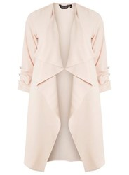 Dorothy Perkins Blush Button Cuff Duster Coat Pink
