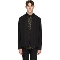 Naked And Famous Denim Ssense Exclusive Black Kimono Shirt