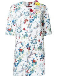 Antonio Marras Floral Print Coat White