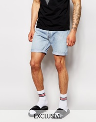 Reclaimed Vintage Levi's Denim Shorts In Mid Length Lightwash
