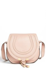 Chloe Chloe 'Marcie Small' Leather Crossbody Bag Beige Blush Nude