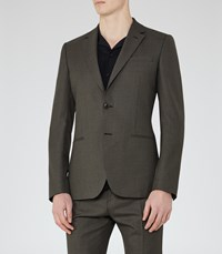 Reiss Kamara B Mens Wool Slim Blazer In Brown