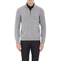 Inis Meain Men's Half Zip Sweater Grey