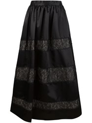 Alice Olivia Alice Olivia Lace Panelled Maxi Skirt Black